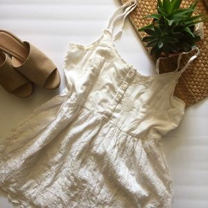 5 for $25 🌻SeaGypsies White Babydoll sun dress